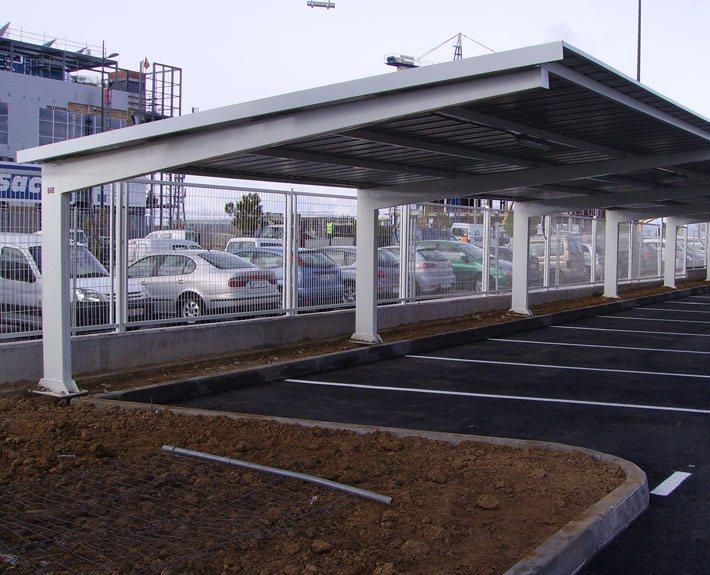 EUROPA PREFABRI- Marquesina para parking Tipo A