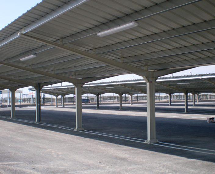 EUROPA PREFABRI- Marquesina de parking de gran capacidad