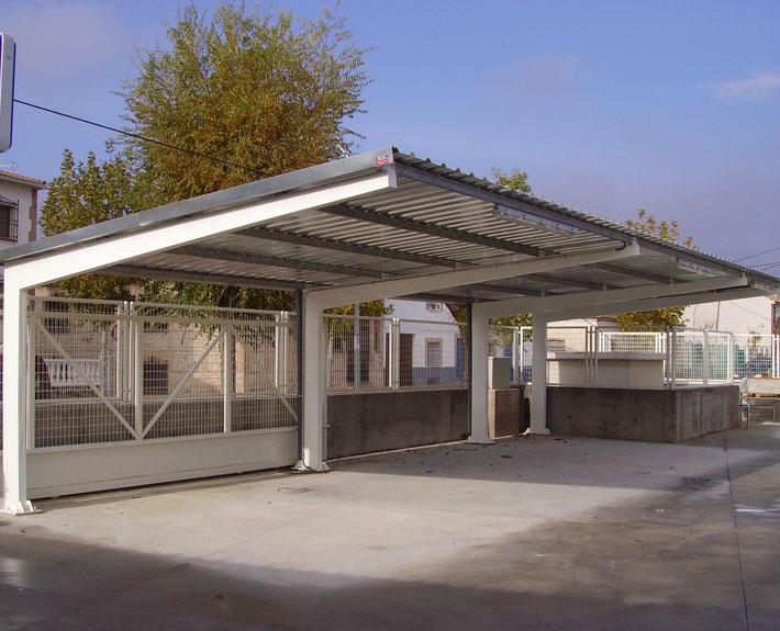 Marquesinas de aparcamiento y techos de parking para coches - Cubiertas para pergolas ...