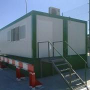 Oficinas modulares para el corte ingles compuesta por modulos prefabricados