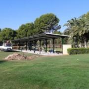 marquesina metalicas en campo de golf de Zaragoza