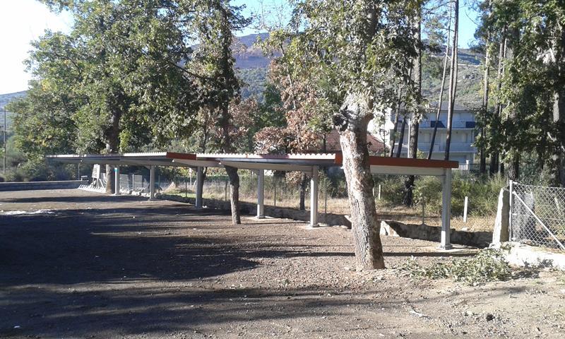 Marquesina parking cubierta teja