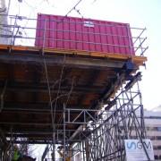 casetas de obra y contenedores de almacen en altura