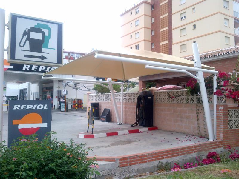 cubiertas textiles para gasolineras
