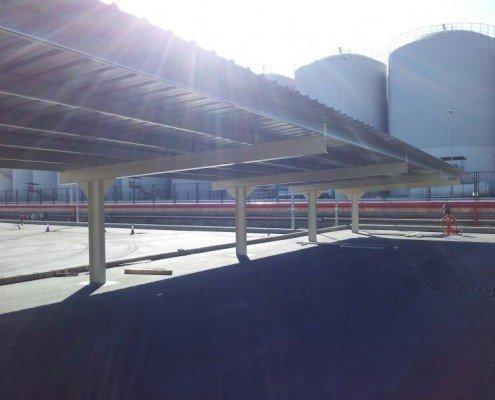 marquesinas de parking para enagas en Barcelona