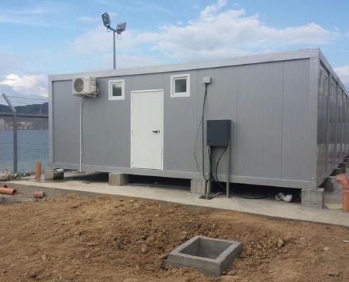 ensemble modulaire de vestiaires pour la base navale