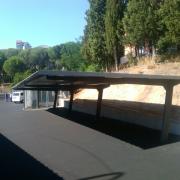 Carports pour le parking de la Marine Espagnole