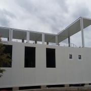 Bâtiment préfabriqué de bureaux modulaires à Toulouse