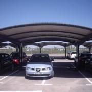 Marquesinas de aparcamiento instaladas en el aeropuerto de Murcia