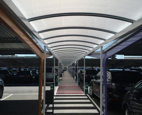 Marquesinas de parking para T1 de Madrid-Barajas