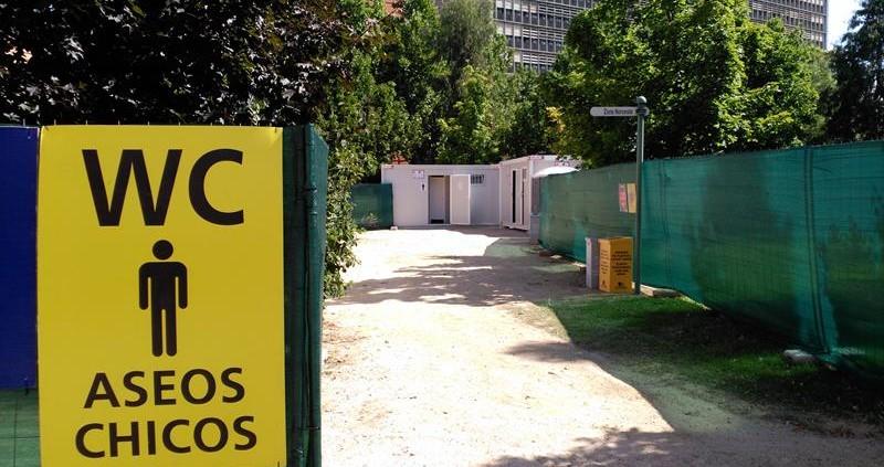 Alquiler casetas sanitarias Madrid - Festival Madgarden