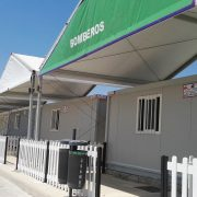 Prefabricated shelters Feria de Malaga