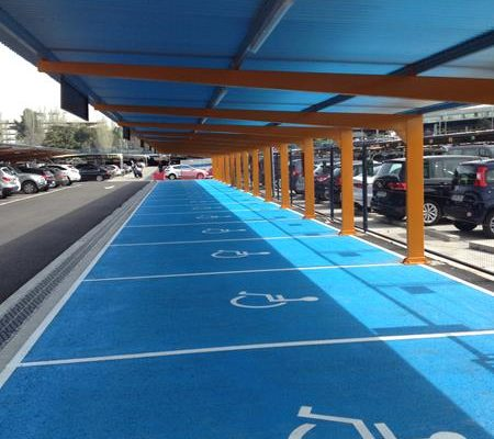 montaje de marquesinas de parking t1 madrid-barajas