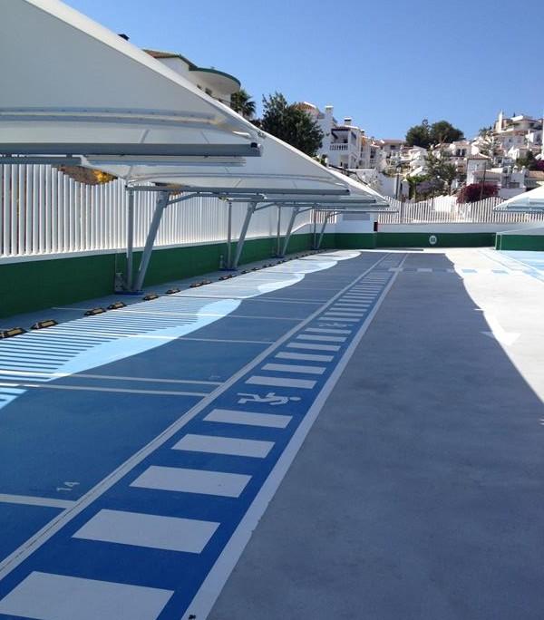 EUROPA PREFABRI - Cubiertas textiles aparcamiento