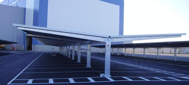Marquesinas de aparcamiento para la factoría Airbus de Toledo
