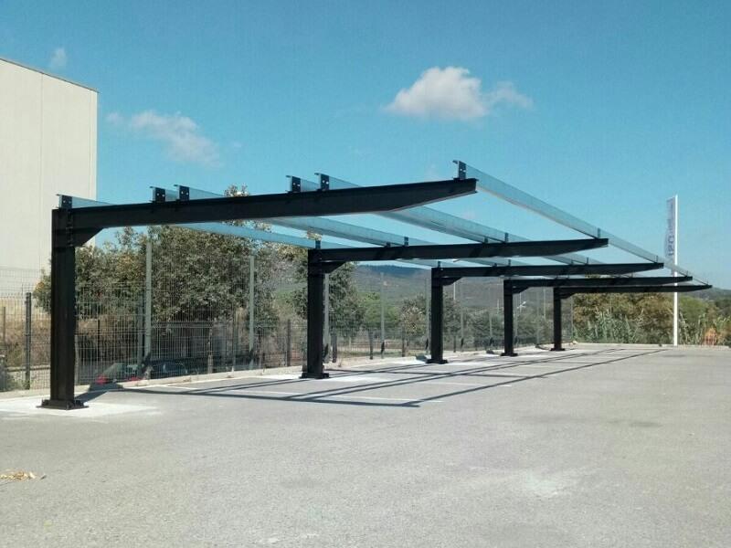 Marquesinas de parking solar para Tamesol en Gerona 02