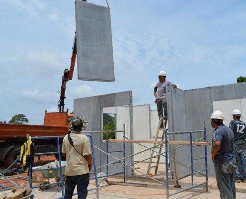 montaje de viviendas prefabricadas sociales