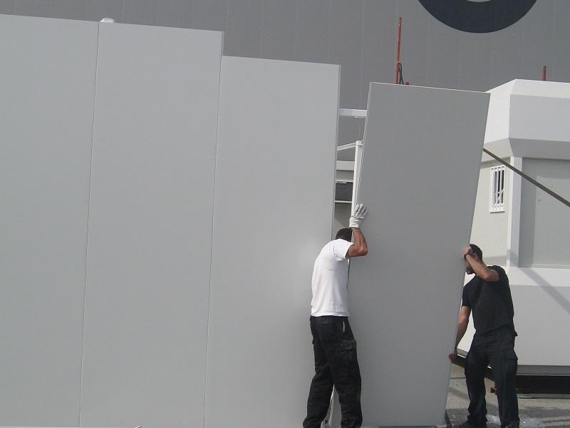 Servicio de montaje y desmontaje de casetas y modulos