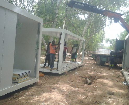 prefabricated labour camp