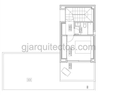 casa prefabricada modular city 004 - plano primera planta