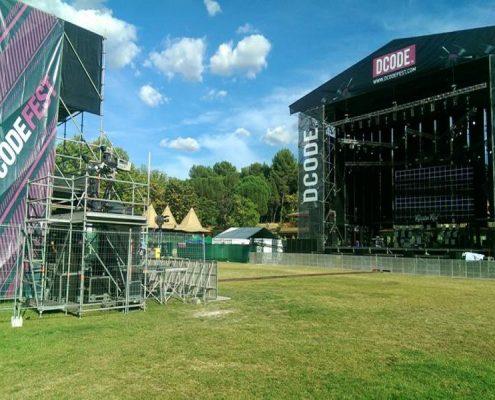 dcode - alquiler de modulos prefabricados vallas sanitarios para eventos espectaculos conciertos festivales