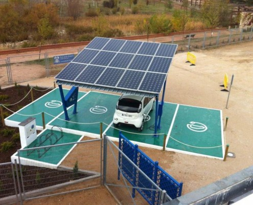 Solar energy charging stations