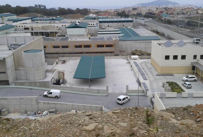 Marquesinas de parking en Ceuta para centro penitenciario