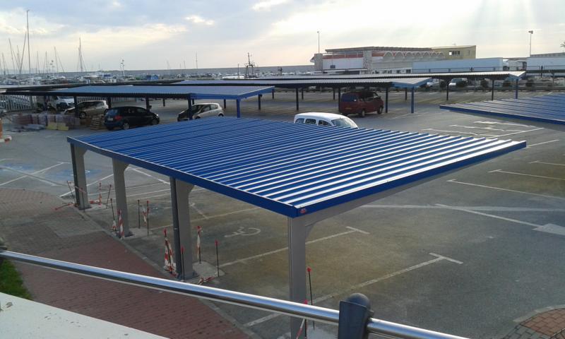 Marquesinas de aparcamiento y techos de parking para coches - Pergola para coche ...