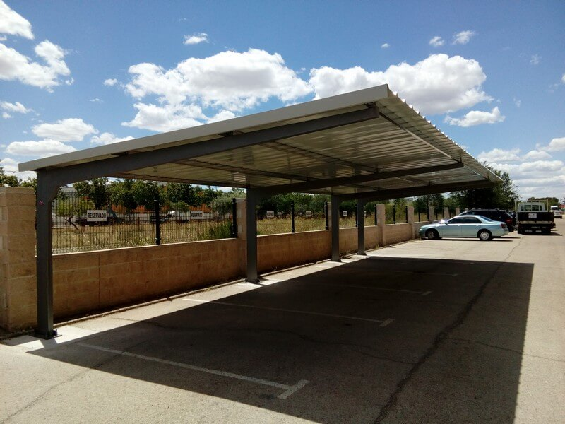 parking canopies & Parking canopies manufactured for Bedline Industrial Ibérica