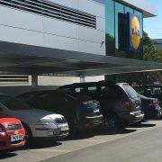 marquesinas de aparcamiento para Lidl