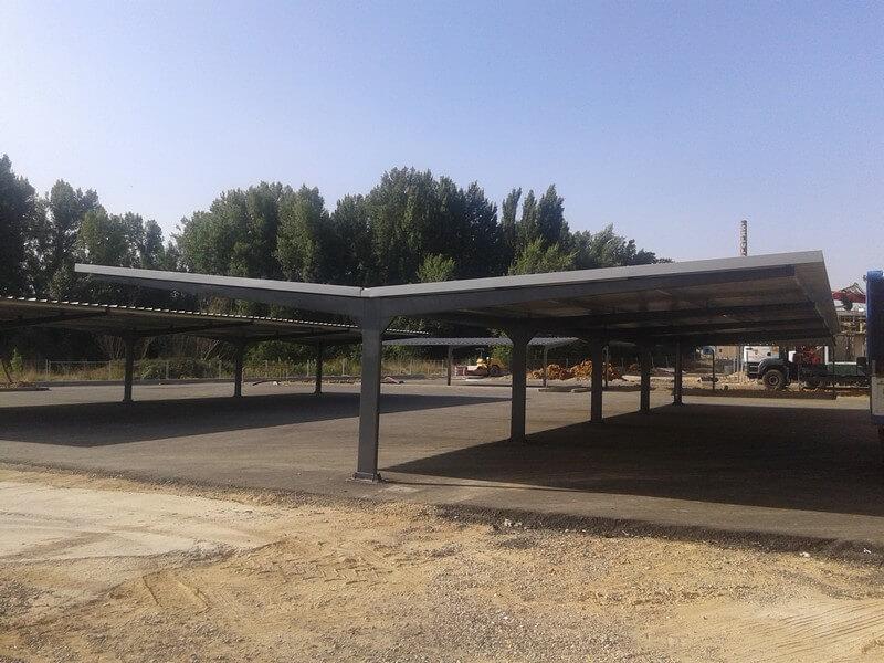 marquesinas de aparcamiento para una constructora en palencia 01