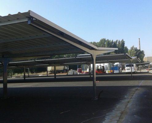 marquesinas de aparcamiento para una constructora en palencia 06
