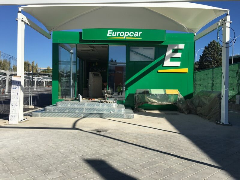 parking shade europcar