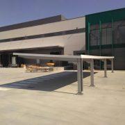 marquesinas de parking para un centro de procesado en rivas 04