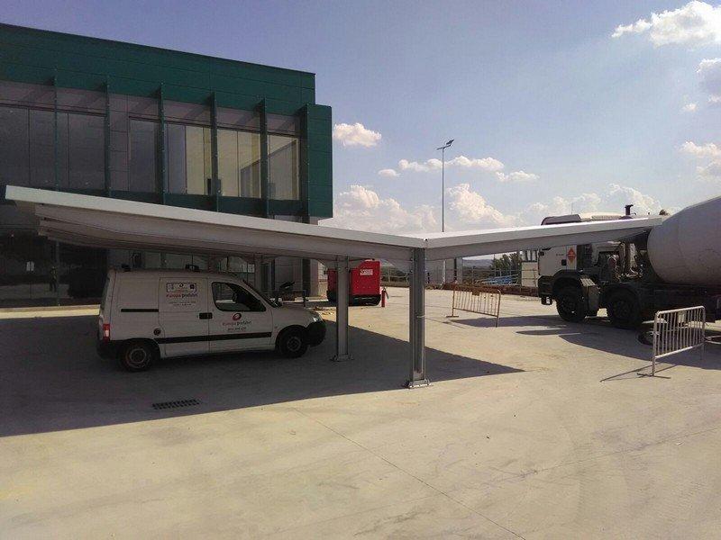 marquesinas de parking para un centro de procesado en rivas 09