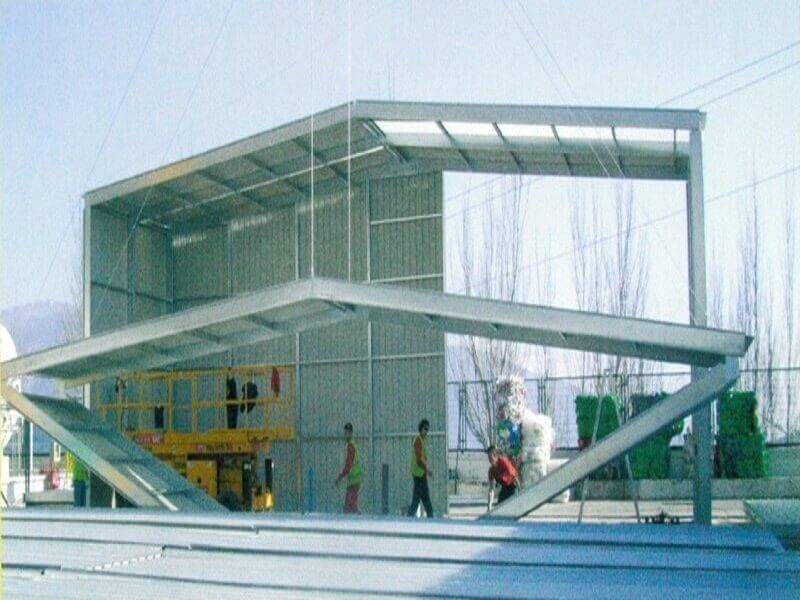 prefabricated foldable warehouse