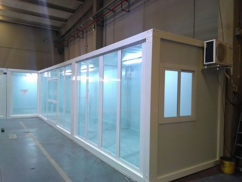 oficinas modulares acristaladas para la empresa grudem