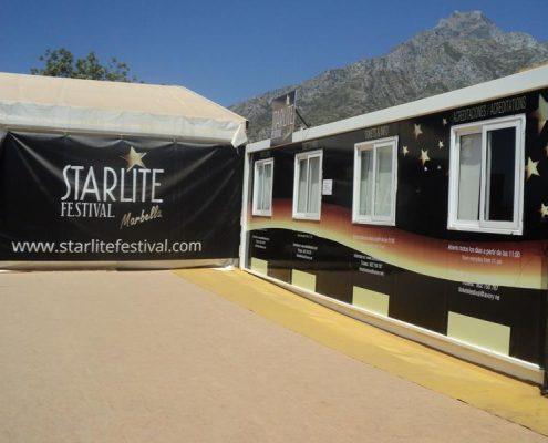 starlite - alquiler de modulos prefabricados para eventos espectaculos festivales