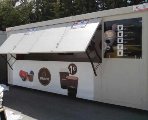 vinarock - alquiler de modulos de kioscos de comida prefabricados para festivales y espectaculos