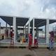 Ensemble modulaire de bureaux préfabriqués au Venezuela