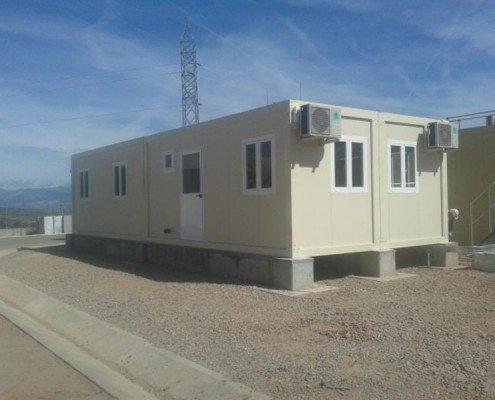 edificio modular para sala de control en la rioja