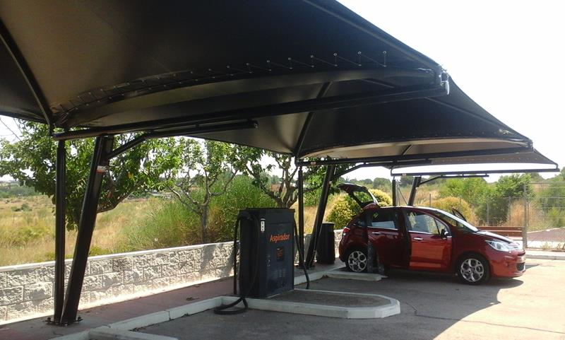 Textile Canopies Repsol Gas Stations