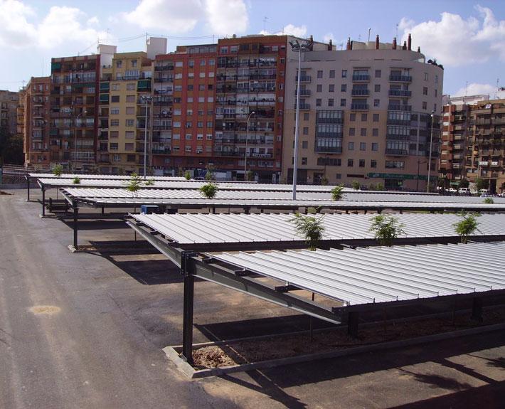 EUROPA PREFABRI- Marquesina de parking estilo IPE
