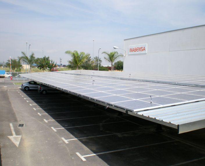 EUROPA PREFABRI- Marquesina de parking fotovoltaica