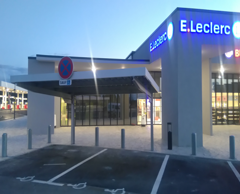 Car park canopies for E. Leclerc supermarkets at Norbonne