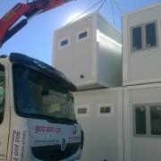 edificio prefabricado en Madrid realizado a partir de modulos prefabricados