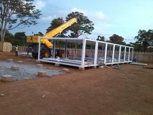 montaje campamento modular