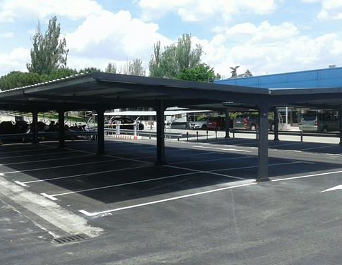 VIP Parking Canopies at Madrid Barajas Airport