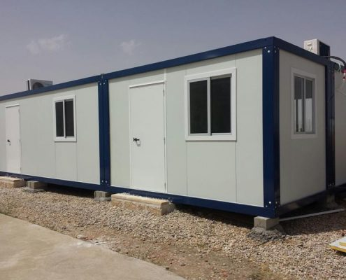 Prefabricated bungalows assembly at Toledo