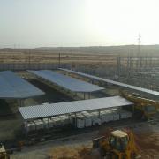 carports pour les dépôts de tramway de Ouargla en Algérie